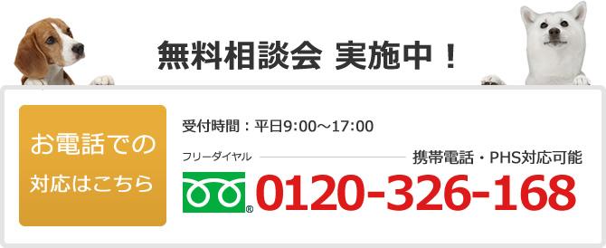 電話でのお問い合わせは0120-326-168